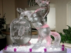 Horse with Happy 70th 40x40 $600.00