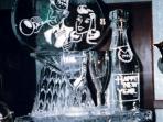 Champagne Bottle, Glasses and Logo Custom