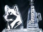 Husky Logo 30x20 $350.00 Megaphone 40x20 $300.00 Combined $600.00