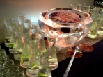 Punch Bowl with Silver Ribbon 12x22 $250.00