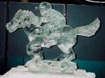 Horse and jockey 40x40 $600.00
