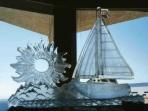 Sailboat and Sun Custom