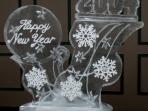 New Years Snowflake and Stars 40x40 $400.00
