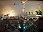 Two Level Bar $1,100.00 Martini Glass Additional $150.00 Oyster Shell $150.00 Candelabra $150.00
