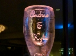 Champagne Glass 40x20 $300.00 Add Names $25.00